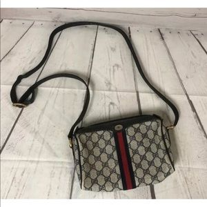 Vintage Gucci Purse Shoulder Bag Signature Stripe